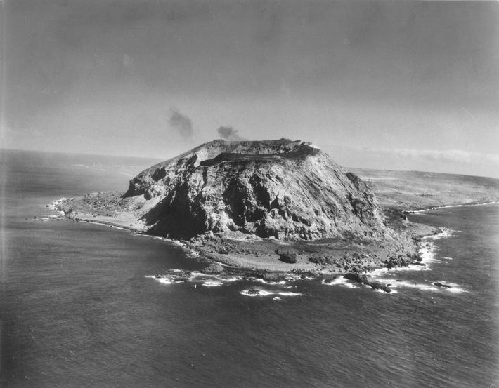Dominated by 554-foot Mount Suribachi, the island of Iwo Jima was an important midway point between ...