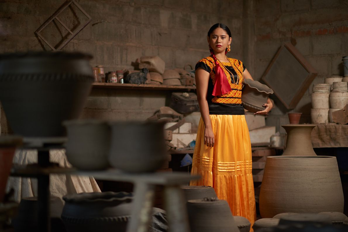 The town of Ixtaltepec is well known for its clay work, much of which was destroyed ...