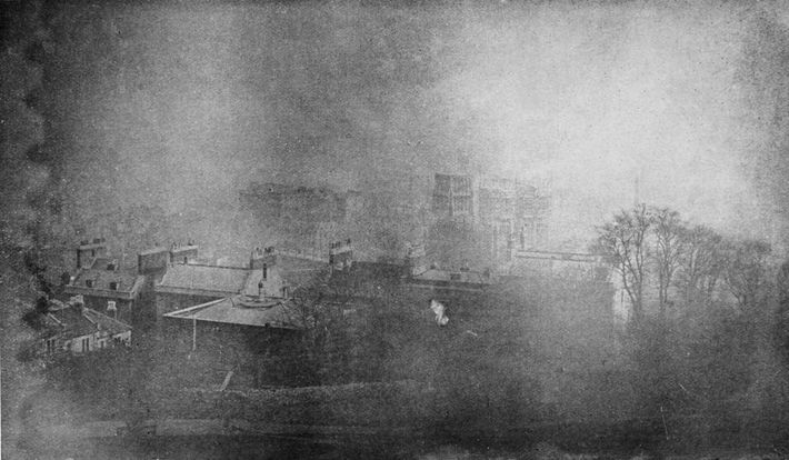 Richard Willoughby's infamous image of the 'Silent City,' which he reputedly photographed in 1888 above a ...