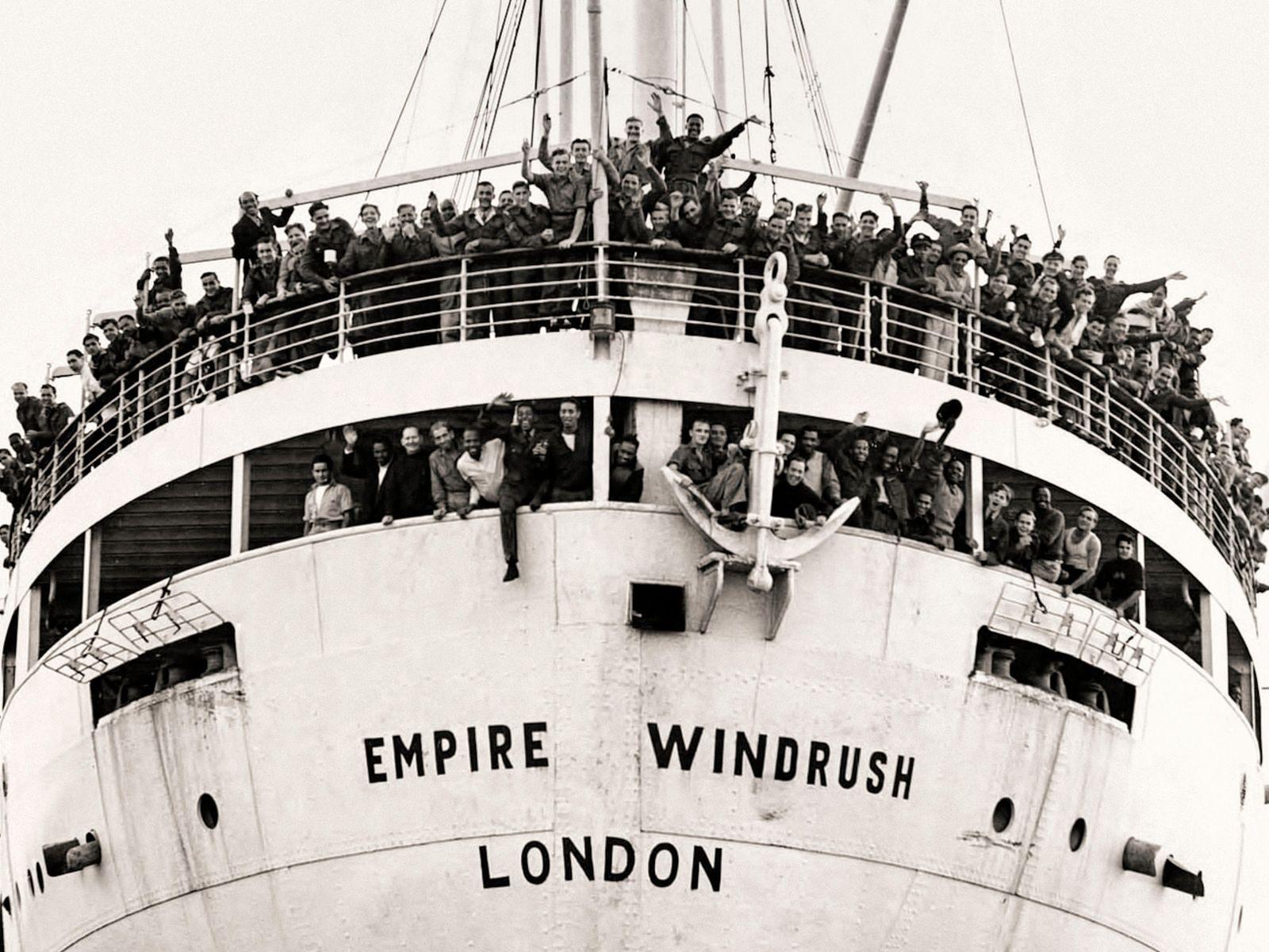 The HMT Empire Windrush.