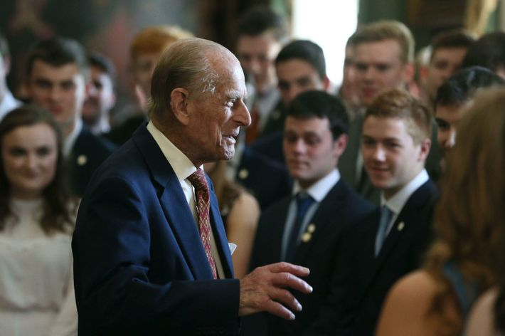 Prince Philip continued to present the award to successful youngsters into late life, until he retired ...