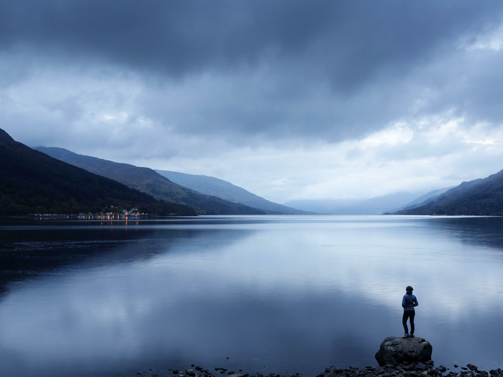 """A view of Loch Earn at twilight, The Trossachs, Scotland. """"By offering many different points of ..."""