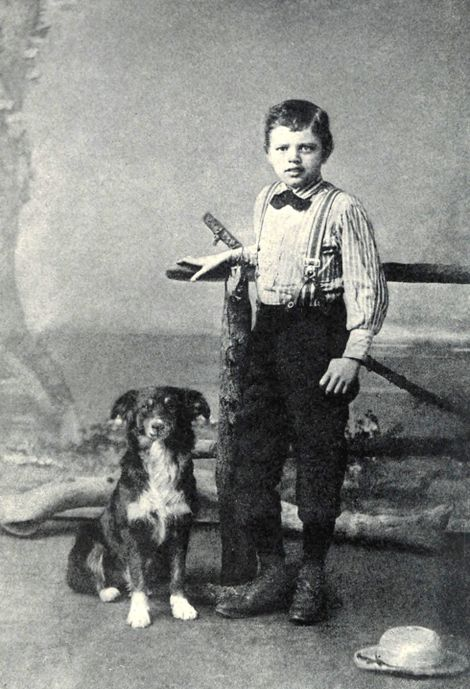 A nine-year old Jack London and canine friend, 1885. A later acquaintance, Marshall Bond, would remark ...