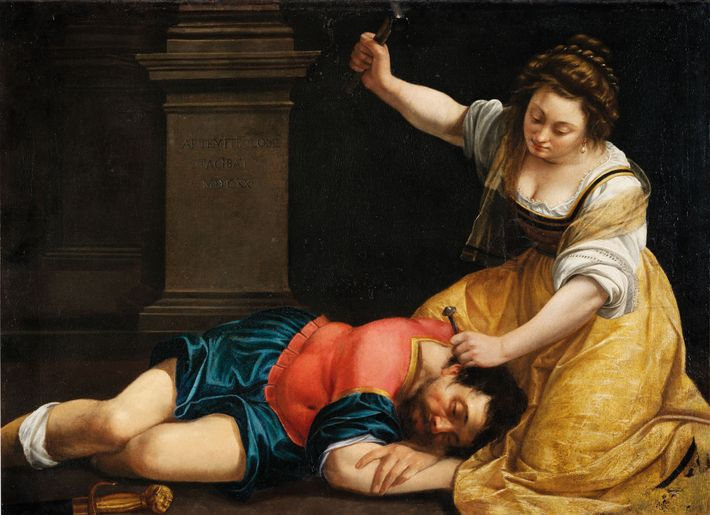 Gentileschi's 1620 painting is inspired by the story in the Book of Judges in which the ...