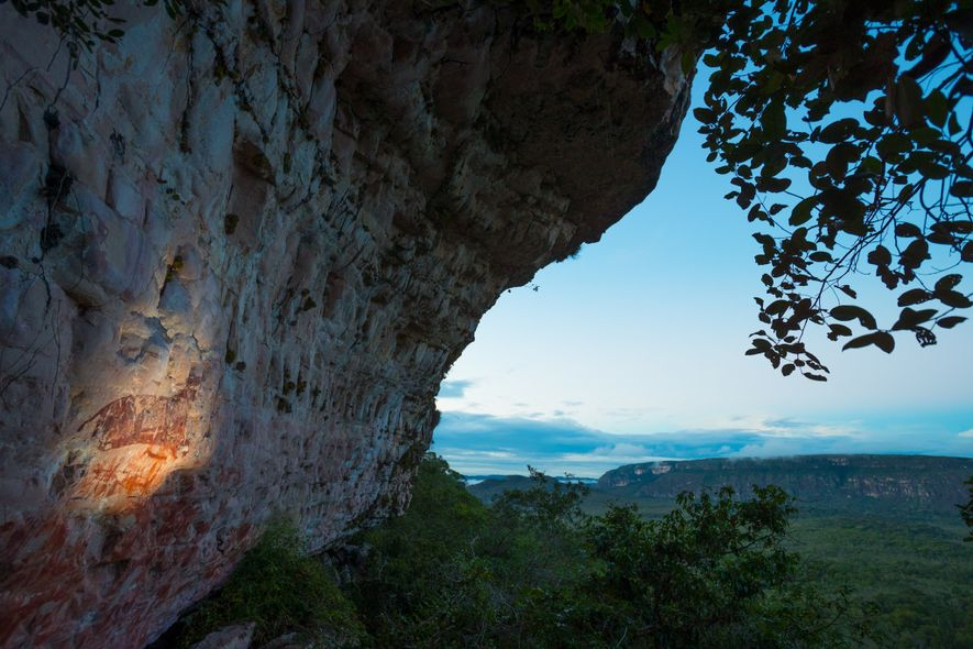 The jaguar is one of the motifs in more than 80 sites of ancient rock art ...