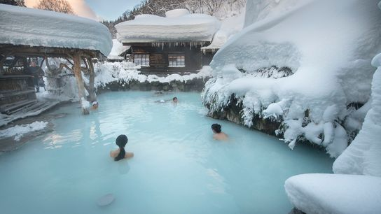 Tsurunoyu Ryokan's rotenburo (outdoor bath) is the most famous in the area. The historic inn, nestled deep in ...