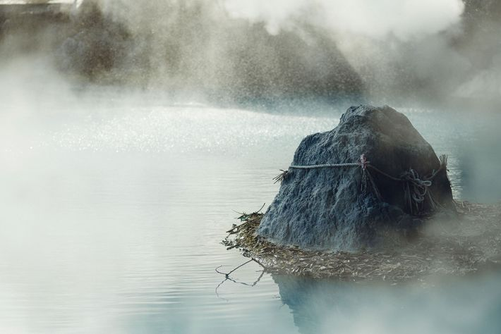 Umi Jigoku, the blue-hued volcanic spring in Beppu, Oita.