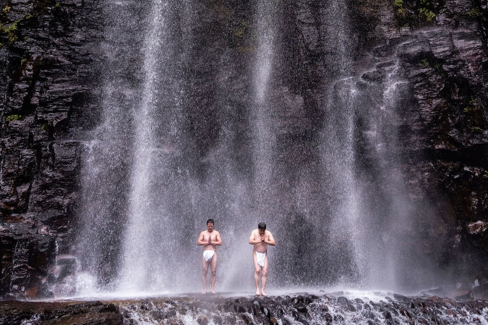 Diving into misogi, the ancient Japanese ritual of waterfall bathing