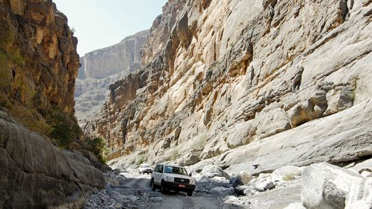 Jebel Shams has several via ferrata routes snaking up the mountains.