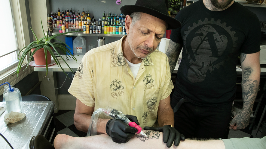 """""""My journey on this show is very much a face-to-face thing, which I like."""" Tattoos are ..."""