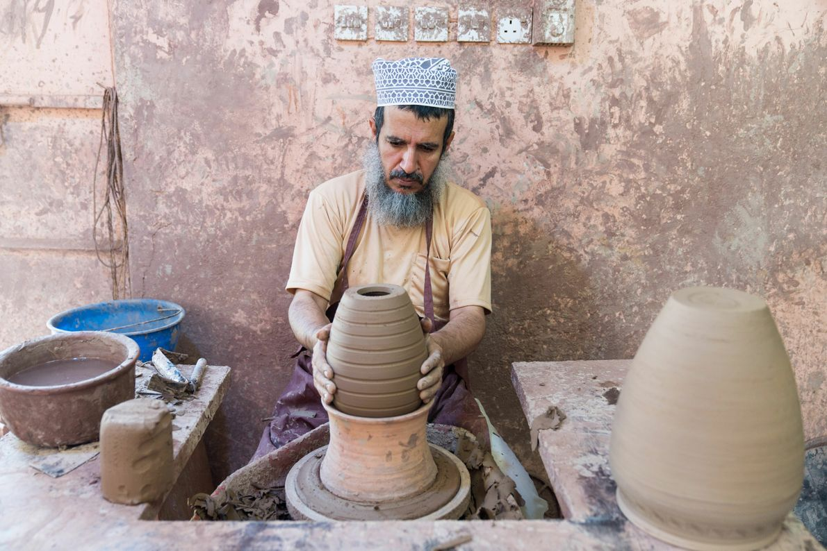 In Bahla, a traditional pottery stronghold, Zaid Abdulla Hamdan Al-Adawi uses methods dating back centuries to ...