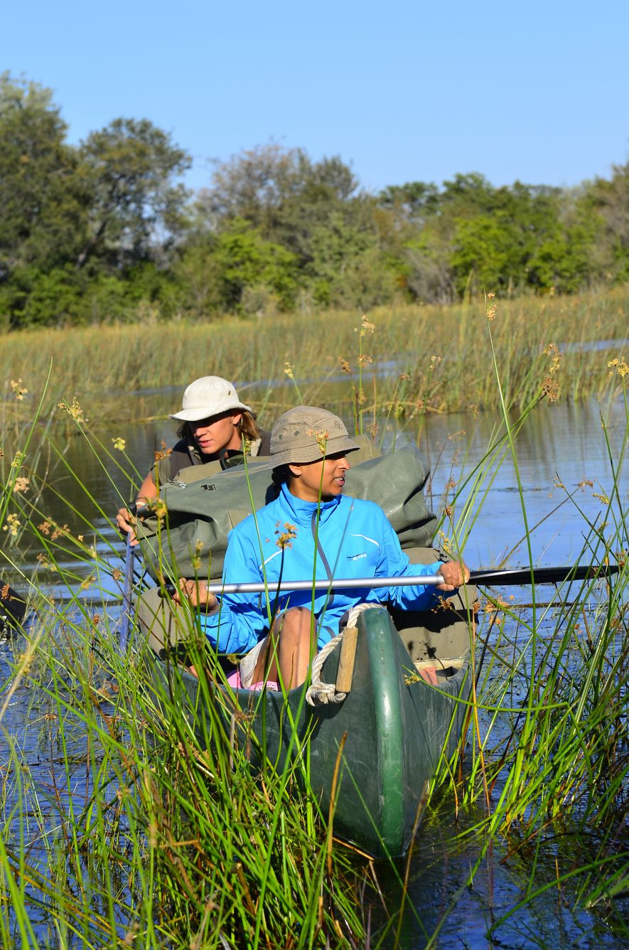 """""""I'd like to see a more inclusive culture, a broadening of what adventure means."""" Jini Reddy in Botswana."""