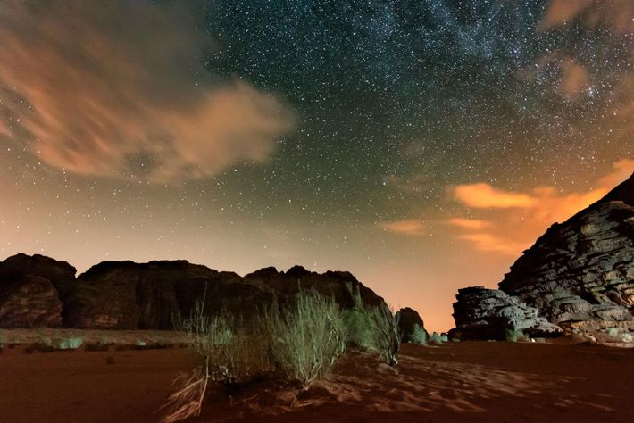 The open sky around Wadi Rum is perfect for stargazing with a candlelit dinner.