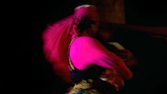 A dervish dancer twirls at the Bab Al Shams Desert Resort and Spa in Dubai, United ...