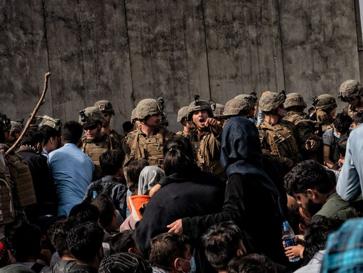 Kabul Soldier in crowd