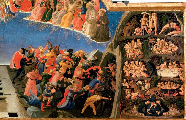 Early Renaissance painter Fra Angelico offers a vivid insight into visions of hell in his circa ...
