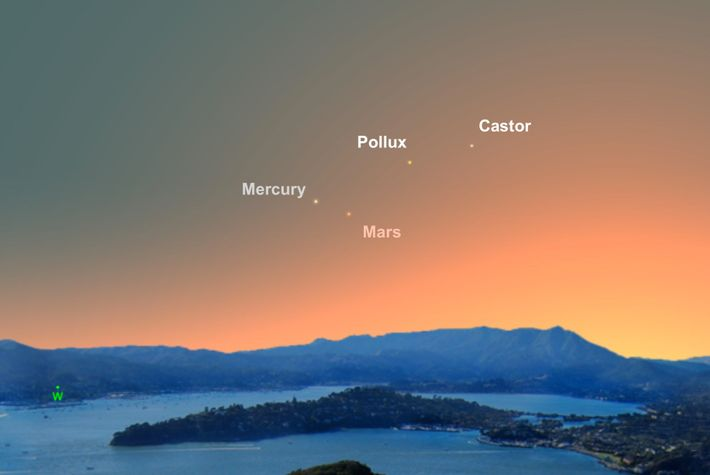 Mercury will be its easiest to spot for the whole year on the evening of June ...