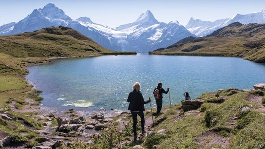 Lake Bachalpsee, close to the First summit above Grindelwald.