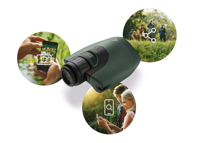 Spot, capture and share in three simple steps with the Swarovski Optik dG