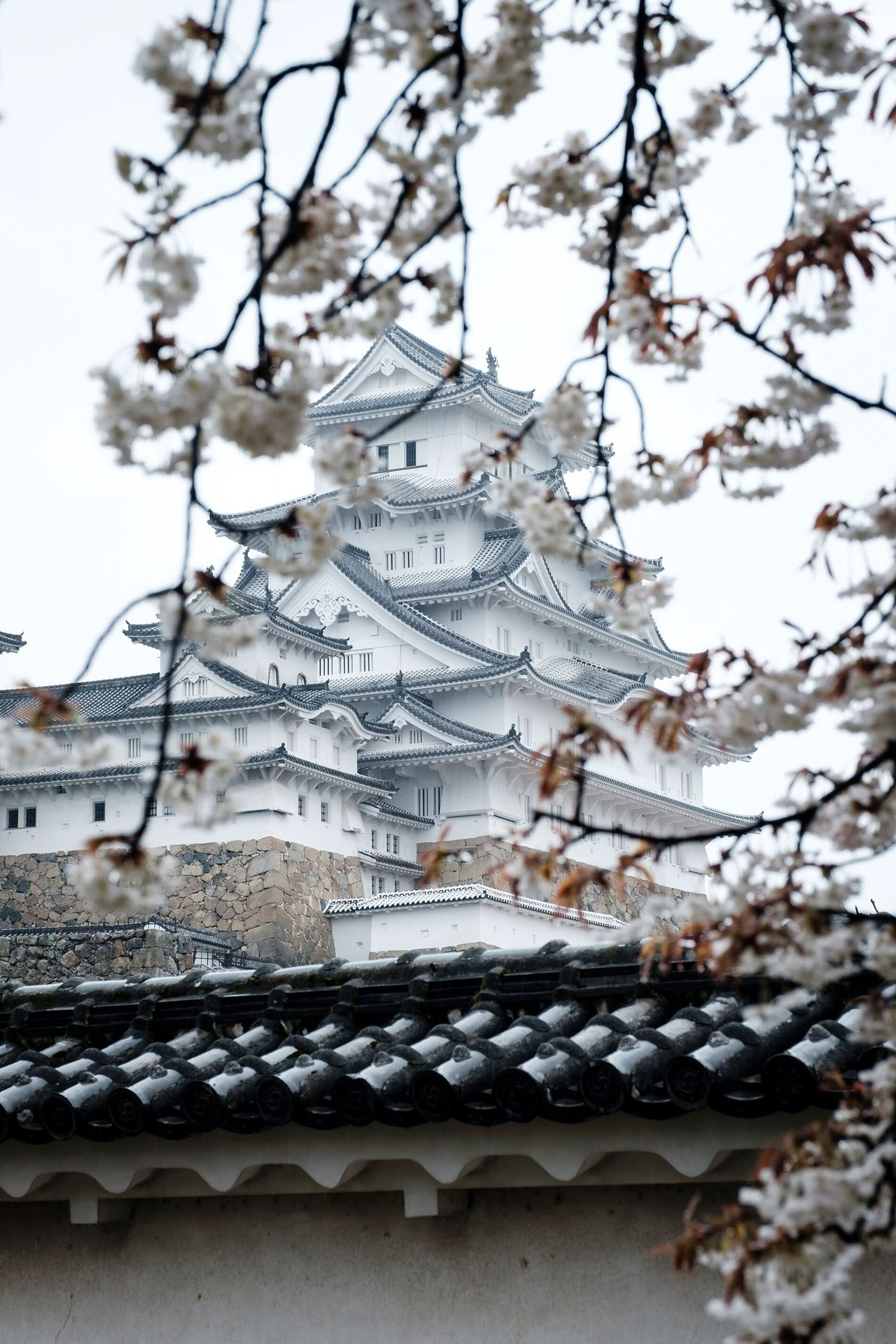 Himeji's gem is its towering white castle, which has stood guard over Kansai for more than ...