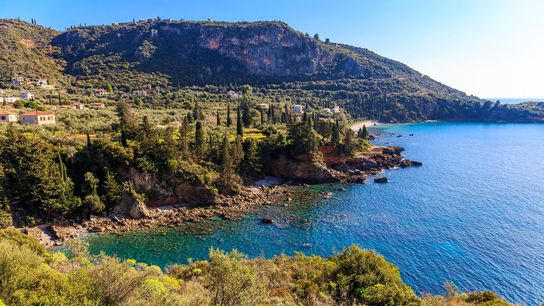 Greece's southern prong, Outer Mani, has postcard-pretty villages like Kardamyli and Stoupa dotted along its rugged, empty ...
