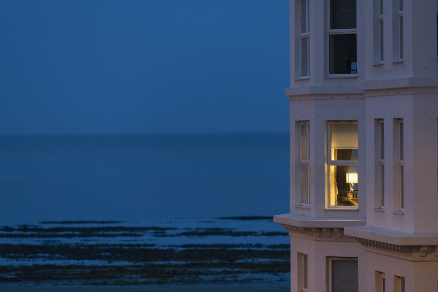 The view over Douglas bay, at twilight. The Victorian seafront recalls a time when summer visitors ...