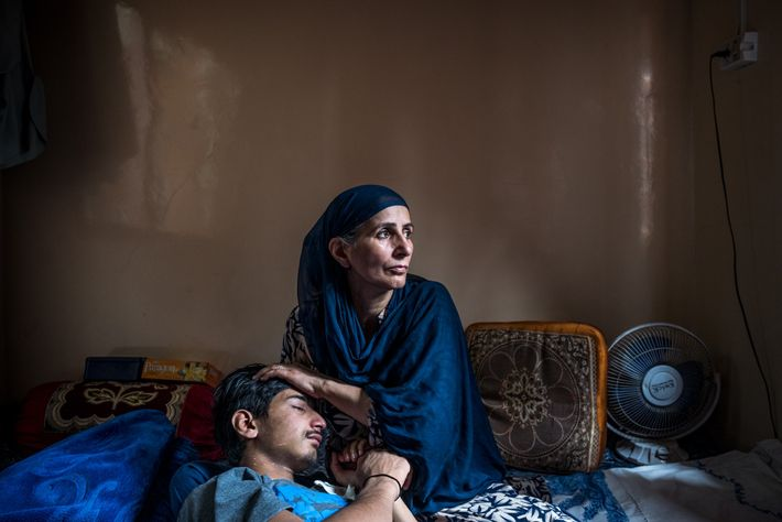 Farzan Sheikh, then 16, was shot in the left eye by an Indian policeman with a ...
