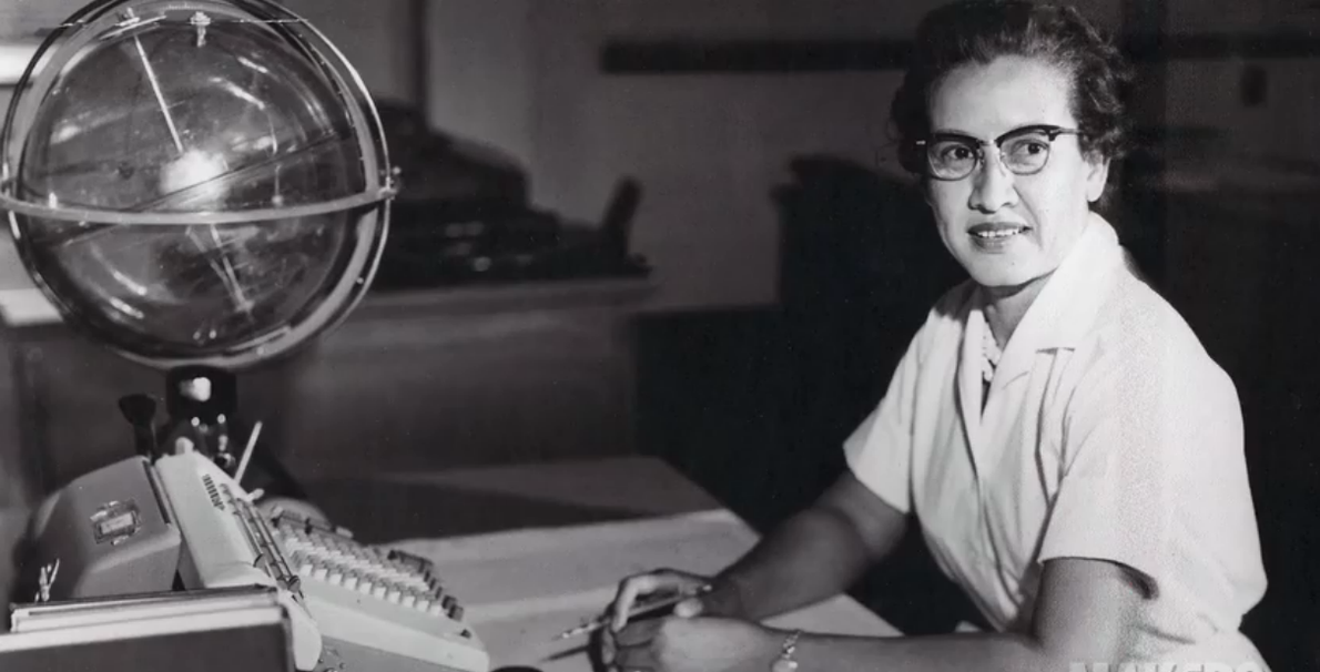 NASA 'computer' Katherine Johnson, who would run checks on computer-generated figures for the Mercury space program. ...