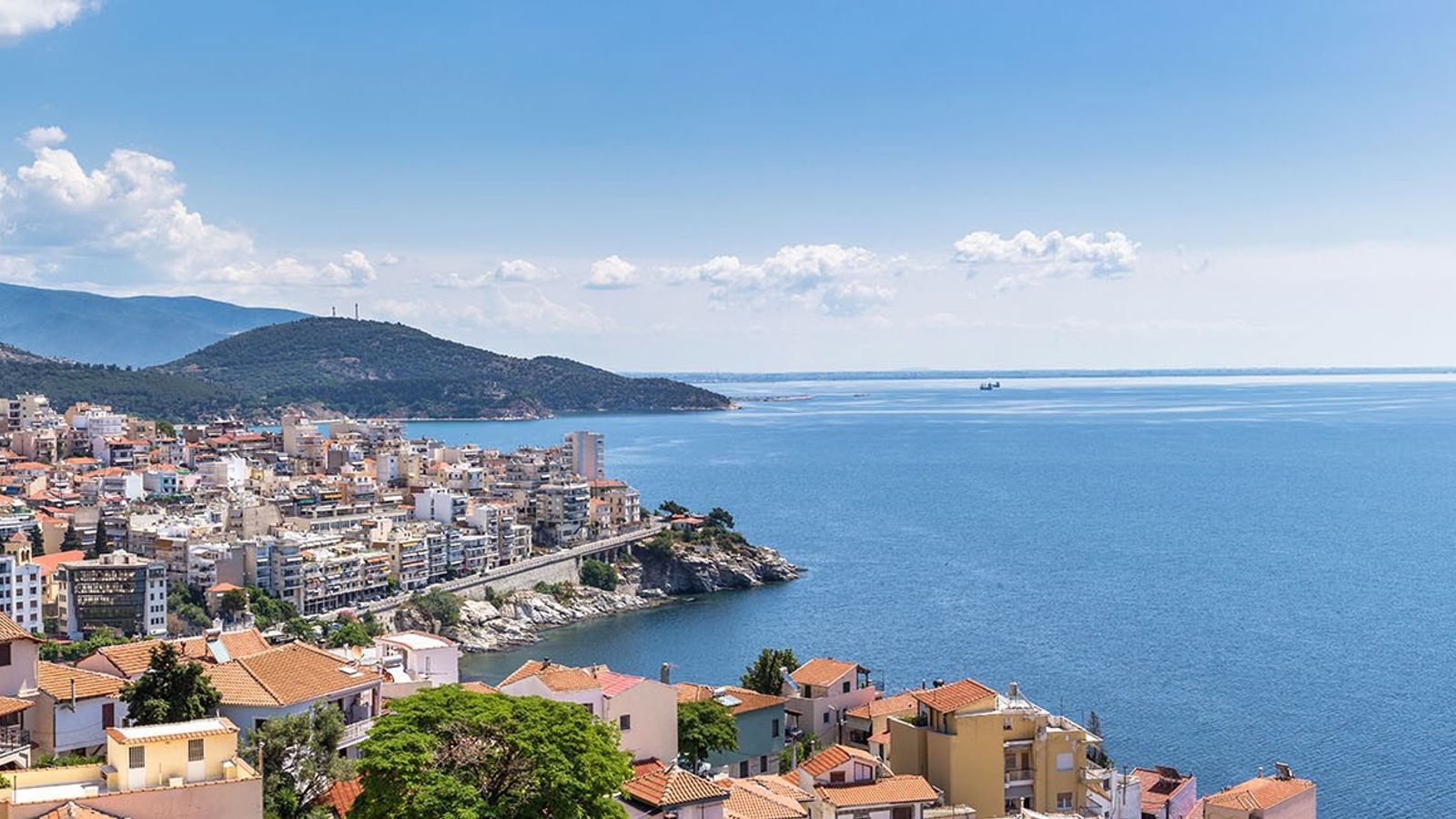 Kavala is a thriving city with Blue Flag beaches lined with waterside tavernas serving fresh seafood.