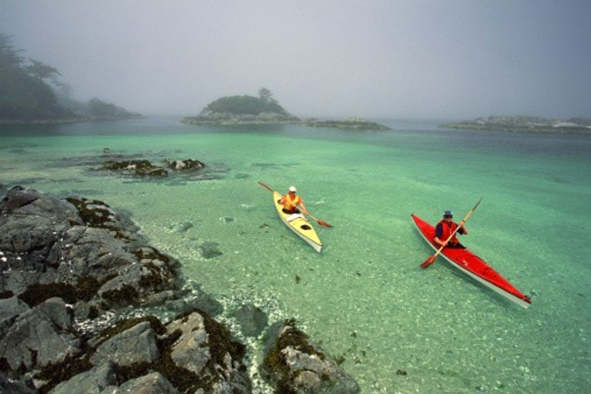 In Pacific Rim National Park, there is a kayaker's paradise called the Broken Group Islands. It ...