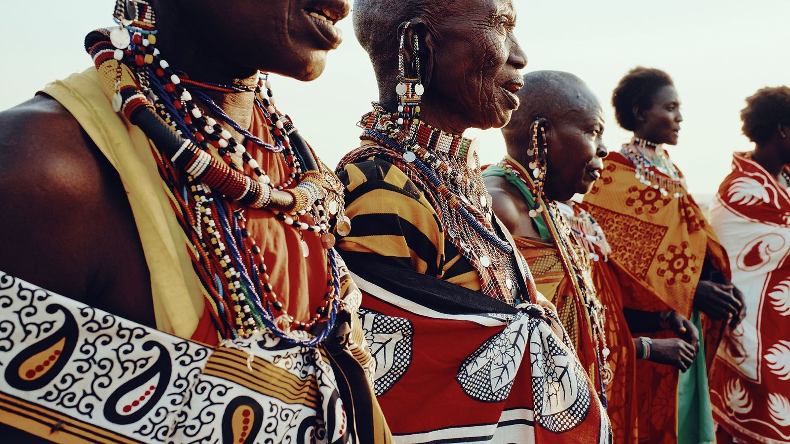 Maasai women sing in the village of Olsere, Naboisho Conservancy.