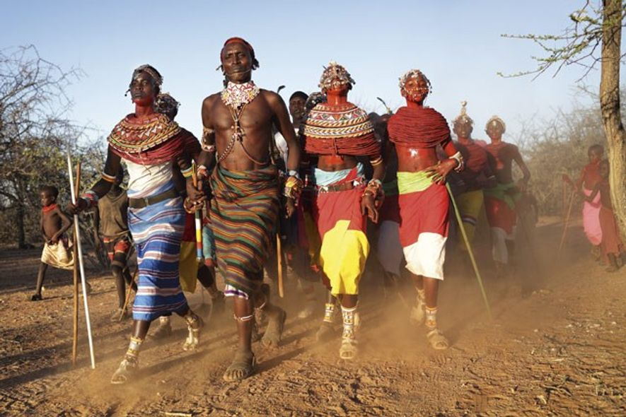 Samburu dancers in Archers Post, Kenya