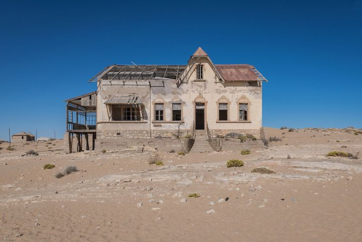 A fascinating reminder of time, destruction, and mortality, Kolmanskop itself is disappearing into the desert.