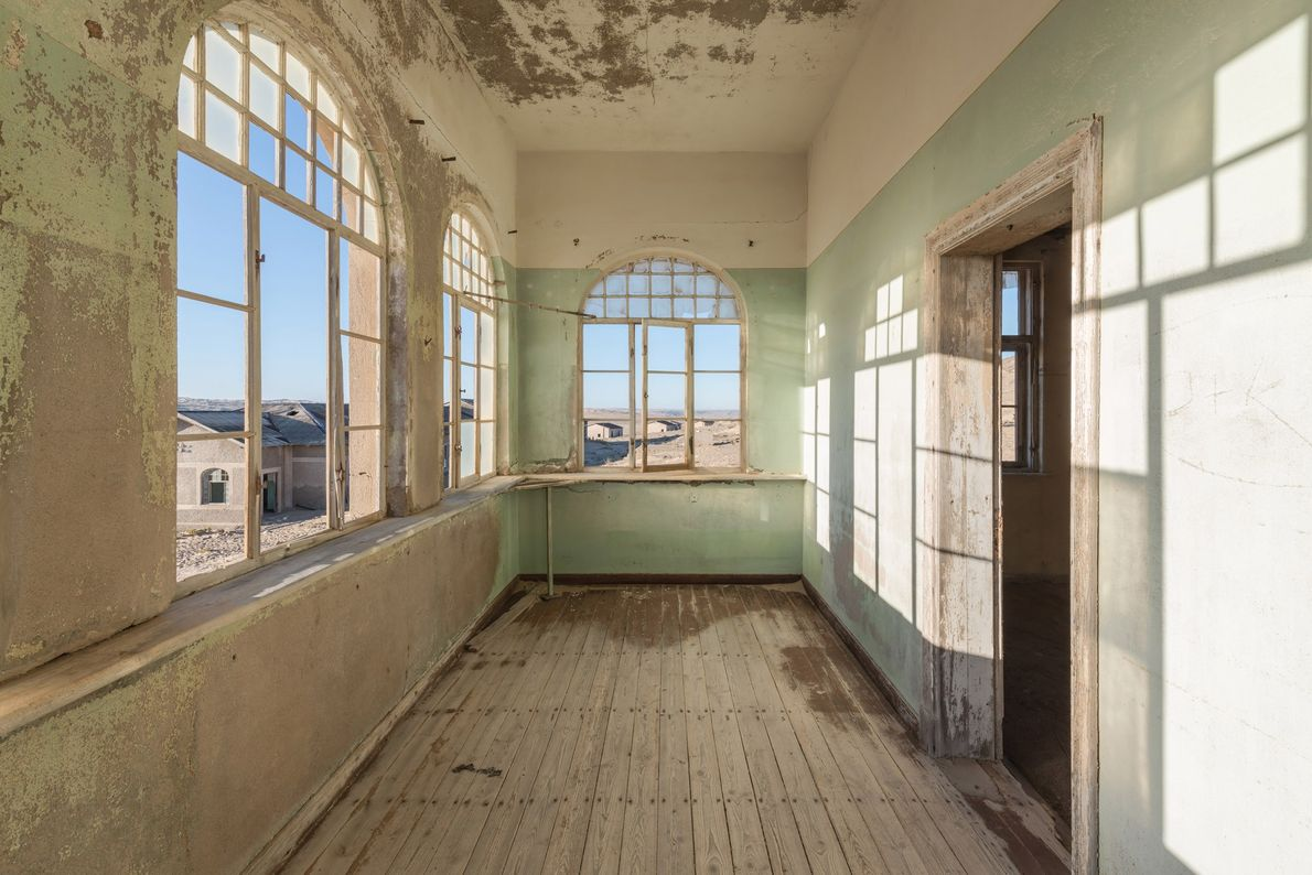 Though located in the middle of a desolate stretch of desert, Kolmanskop enjoyed quite a few ...