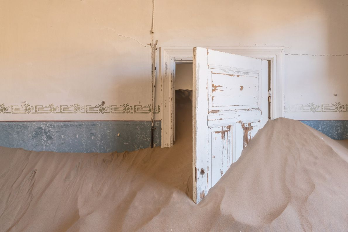 Now owned and maintained as a tourist attraction by a private company, Kolmanskop requires permits to ...