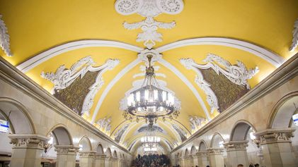 Pictures of Moscow's Surprisingly Elegant Subway Stations