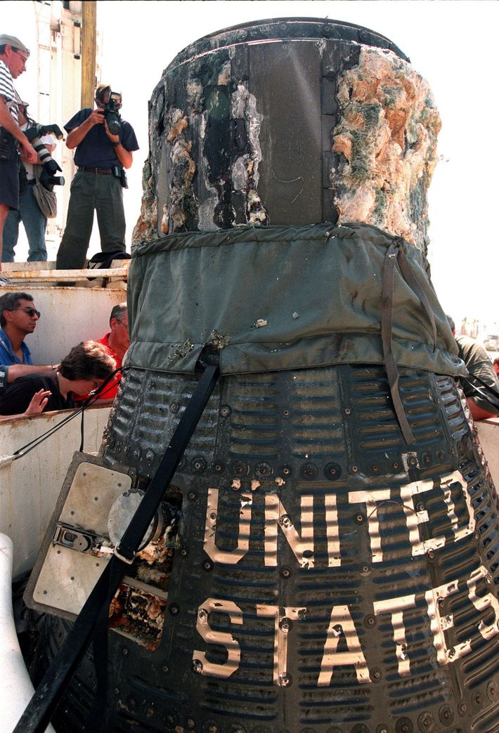 The Liberty Bell 7 capsule was recovered from a depth of 16,000ft - considerably deeper than ...