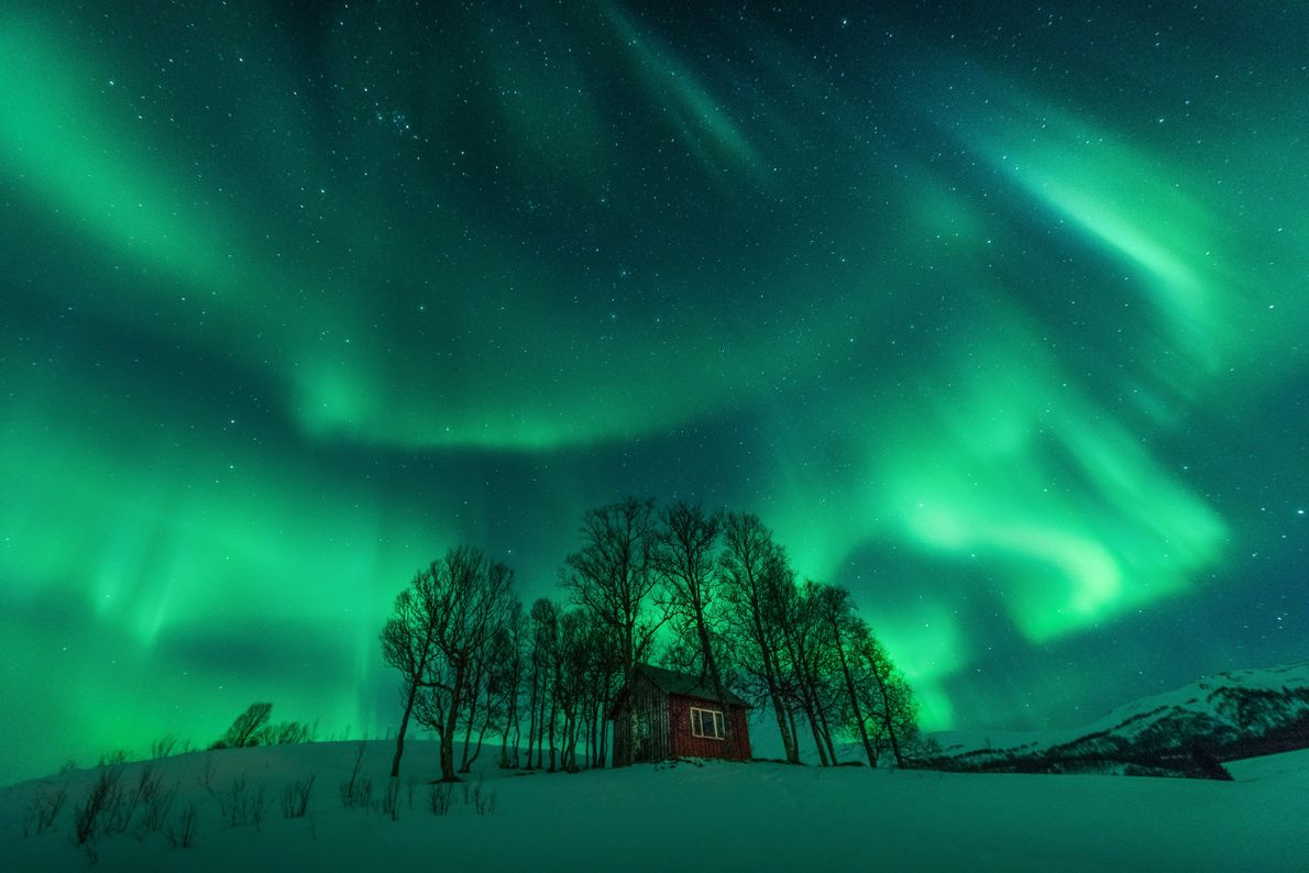 """Photographer Stian Klo: """"This very photogenic abandoned cabin is located right between Harstad and Borkenes in ..."""
