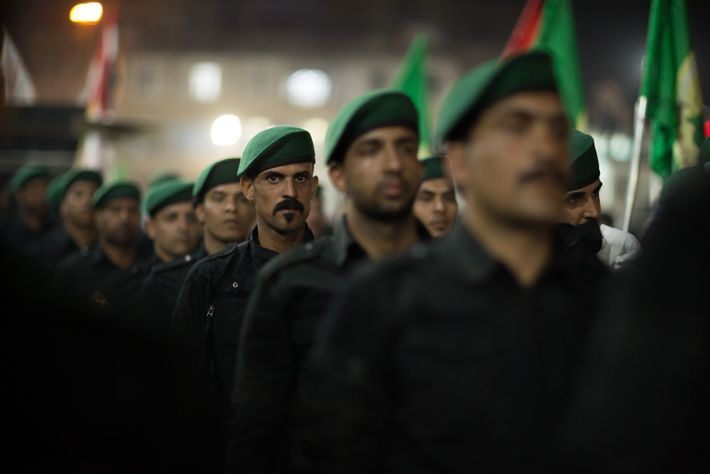 The Popular Mobilisation Forces (PMF), an umbrella organisation of mostly Shia militia groups known as the ...