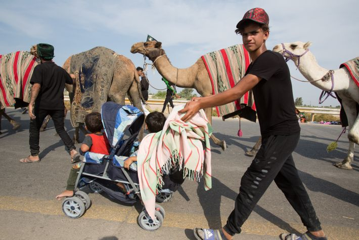 A young man pushes his younger siblings on the road to Karbala. His route will take ...