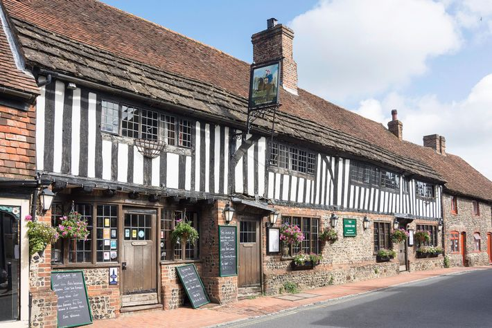 With its wealth of half-timbered houses, Alfriston in East Sussex is a classic example of a medieval ...