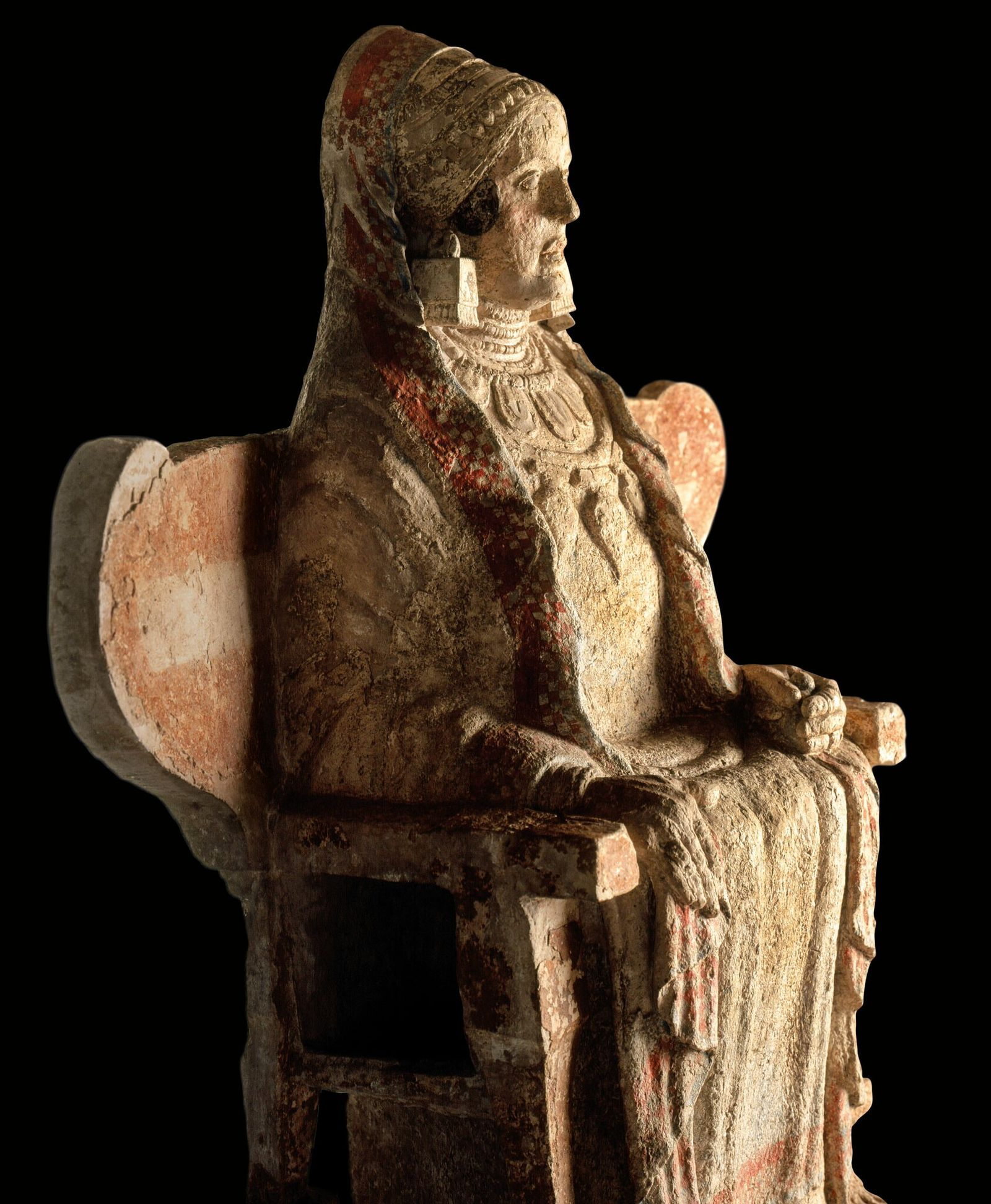 Seated on a winged throne, the colorful Lady of Baza was found in an Iberian necropolis ...