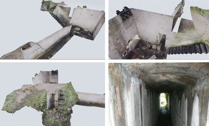 By stitching photos together into a 3D model, archaeologists are able to visualise a tunnel that ...
