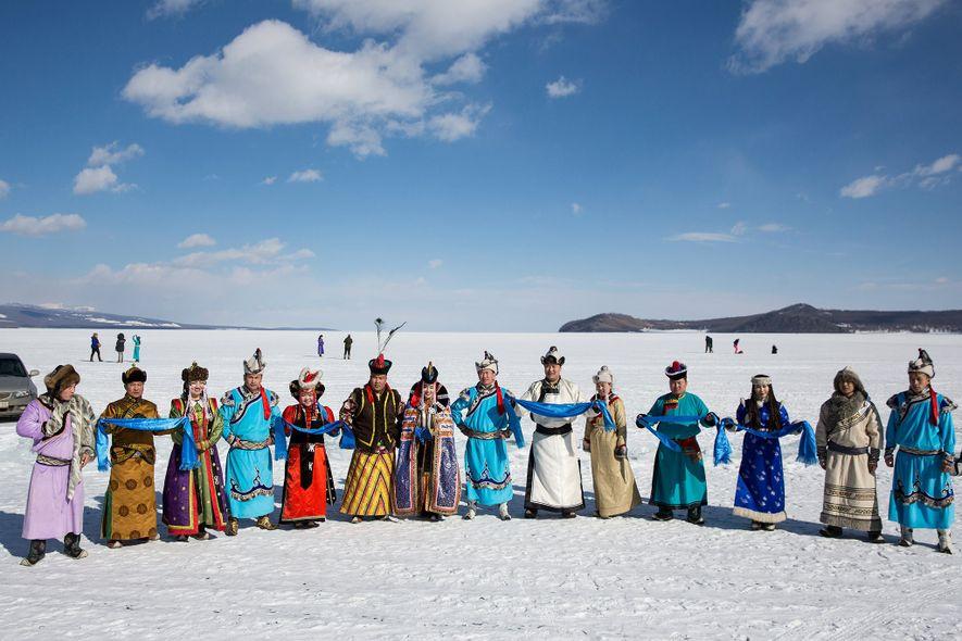 Celebrate Mongolia's winter on an ancient, frozen lake