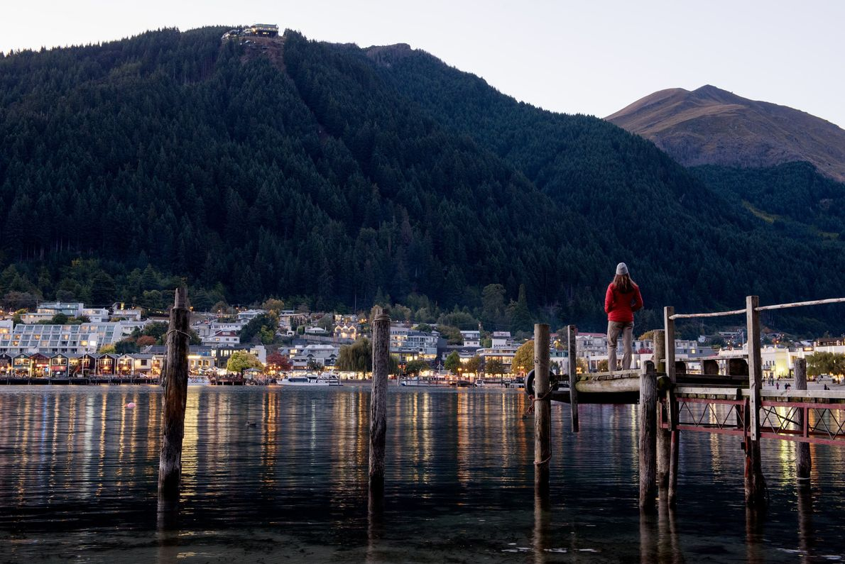 On the South Island of New Zealand, you'll find Queenstown and Lake Wakatipu, the longest lake ...
