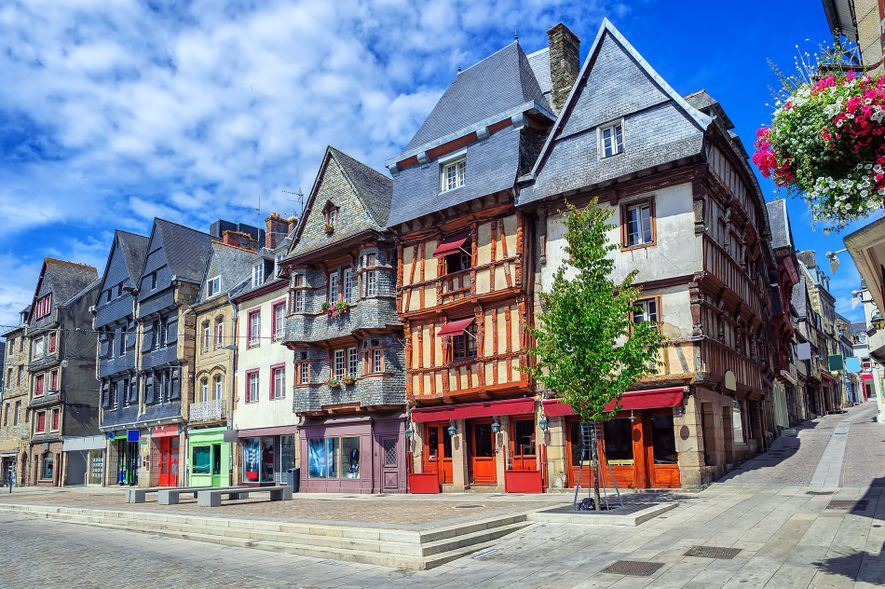 The capital of Trégor, Lannion is the a town in Brittany built on the banks of ...