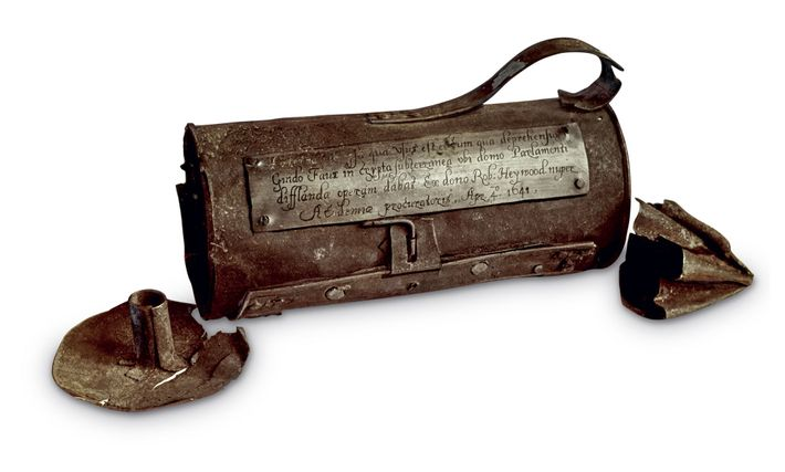 It's believed Fawkes was carrying this lantern on the night of his arrest.