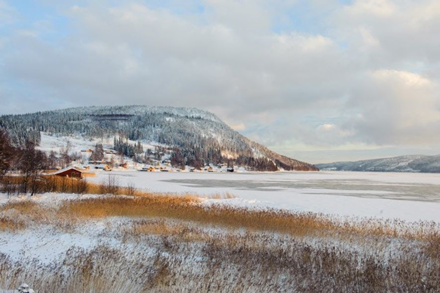 A winter landscape in the Gulf of Bothnia caked with snow and ice. Image: Lola Akinmade ...