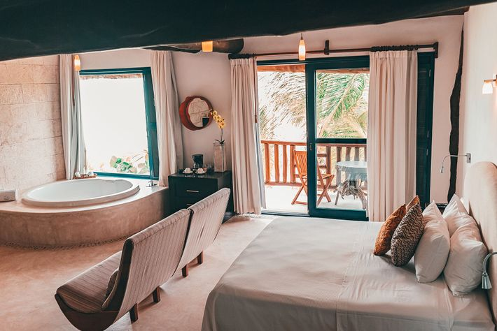 Las Nubes de Holbox has an enviable north-coast location that's primed for swimming with mantas.