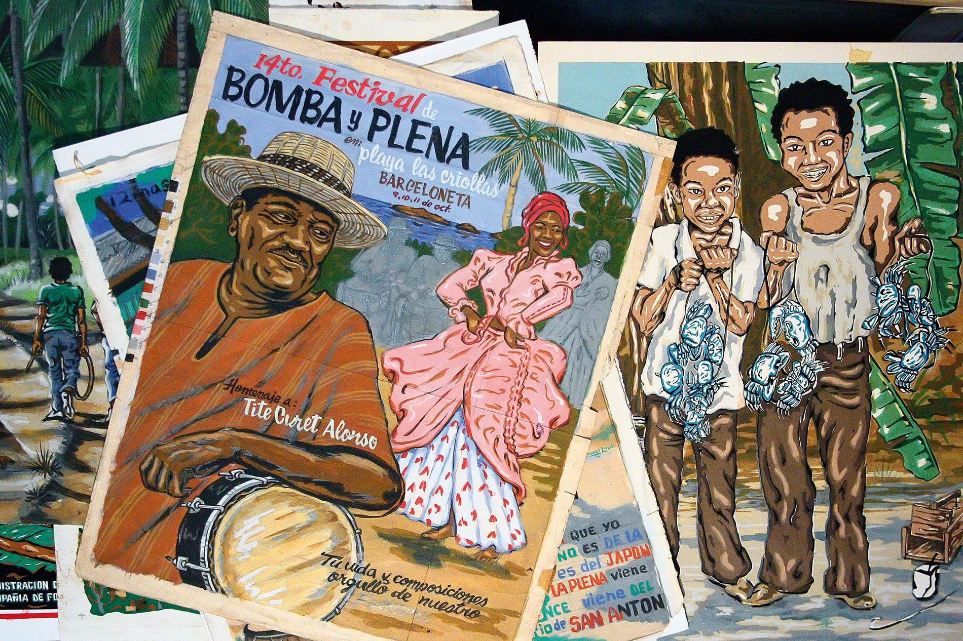Bomba y plena posters, Loíza